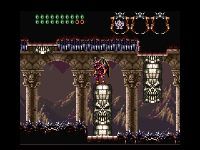 une photo d'écran de Demon s Crest sur Nintendo Super Nes